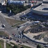 Власти обещают завершить строительство транспортной развязки на Южной площади